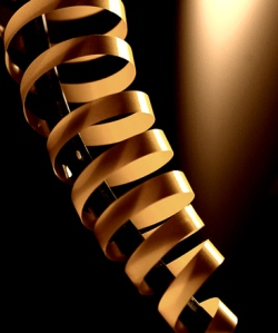 Spiral GOLD lighted